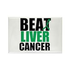 Beat Liver Cancer Rectangle Magnet