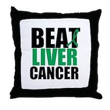 Beat Liver Cancer Throw Pillow
