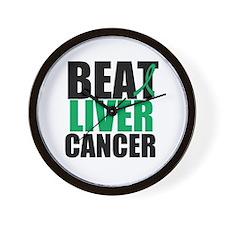 Beat Liver Cancer Wall Clock