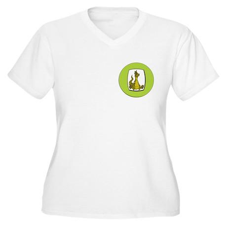 Kid's Dragon 2 Women's Plus Size V-Neck T-Shirt
