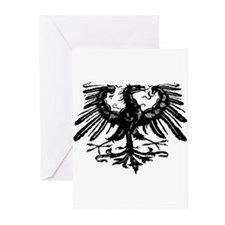 Gothic Prussian Eagle Greeting Cards (Pk of 10