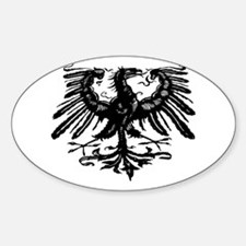 Gothic Prussian Eagle Oval Decal
