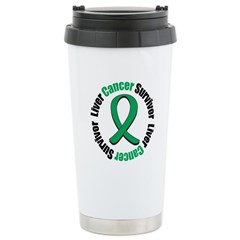 Liver Cancer Survivor Stainless Steel Travel Mug