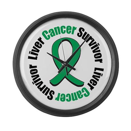 Liver Cancer Survivor Large Wall Clock