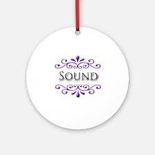 Sound Name Badge Ornament (Round)