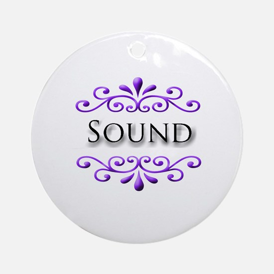 Sound Name Badge Ornament (Round)