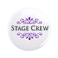"""Stage Crew Name Badge 3.5"""" Button"""