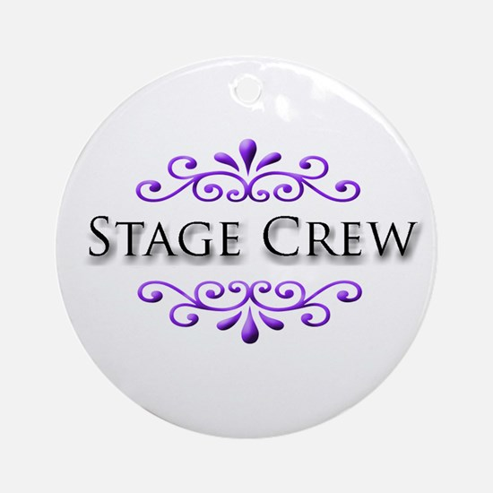 Stage Crew Name Badge Ornament (Round)