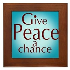 Give Peace a Chance  Framed Tile
