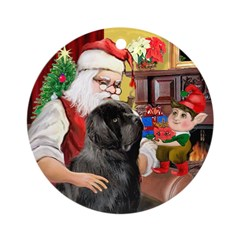 Santa and his Newfie Ornament (Round)