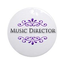 Music Director Name Badge Ornament (Round)