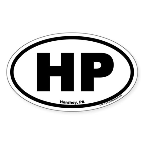 Hershey PA HP Euro Oval Sticker