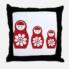 Riyah-Li Designs Nesting Dolls Three Throw Pillow