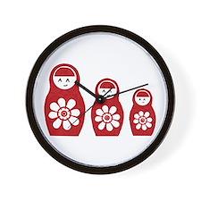 Riyah-Li Designs Nesting Dolls Three Wall Clock