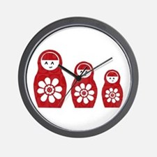 Riyah-Li Designs Nesting Dolls Three Wall Clock