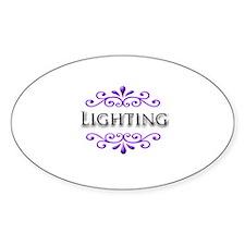 Lighting Name Badge Oval Decal