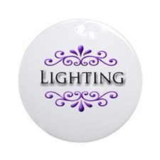Lighting Name Badge Ornament (Round)