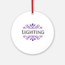 Lighting Name Badge Ornament (Round)