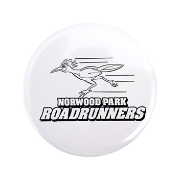 """Norwood Park Road Runner 3.5"""" Button"""