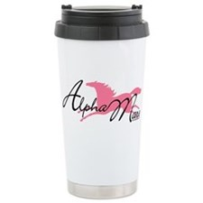 Alpha Mare Saying Ceramic Travel Mug