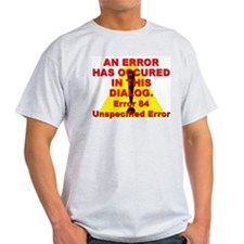 Error In Dialog Ash Grey T-Shirt