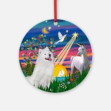 Magical Night Samoyed Ornament (Round)
