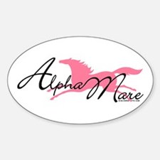 Alpha Mare Saying Oval Decal