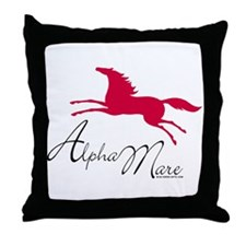 Alpha Mare Saying Throw Pillow