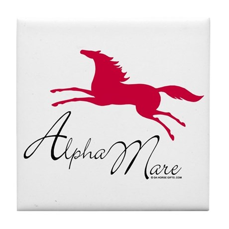Alpha Mare Saying Tile Coaster