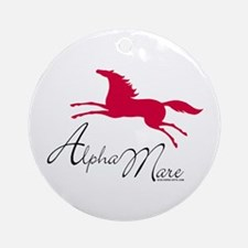 Alpha Mare Saying Ornament (Round)