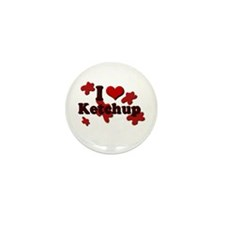 I Love Ketchup Mini Button (10 pack)