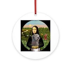 Mona Lisa & Her Irish Wolfhound Ornament (Round)