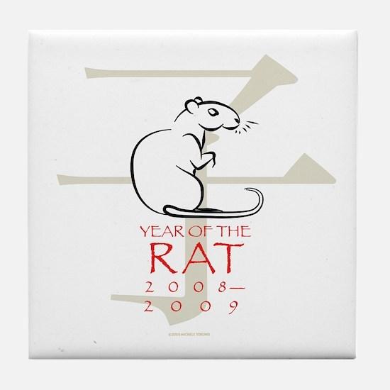 Nedoshi (Year of the Rat) Tile Coaster