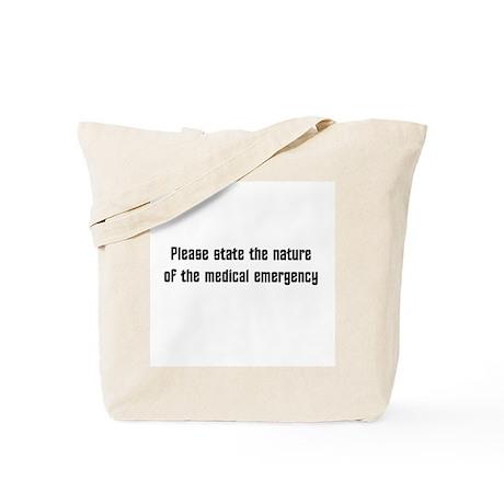 Medical emergency Tote Bag