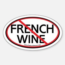 Boycott French Wine Oval Decal