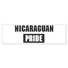 Nicaraguan pride Bumper Bumper Sticker