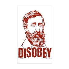 Thoreau Disobey Rectangle Decal