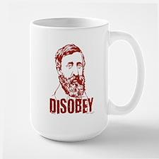 Thoreau Disobey Large Mug