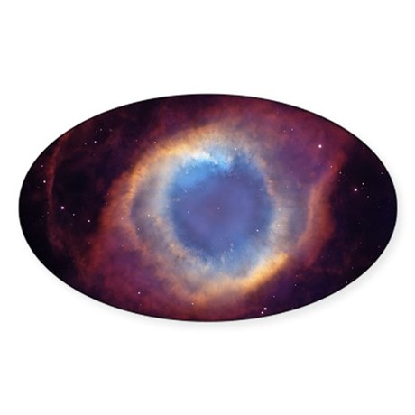 Eye of God Nebula Oval Sticker
