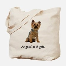 Good Silky Terrier Tote Bag