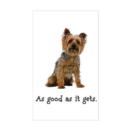 Good Silky Terrier Rectangle Sticker