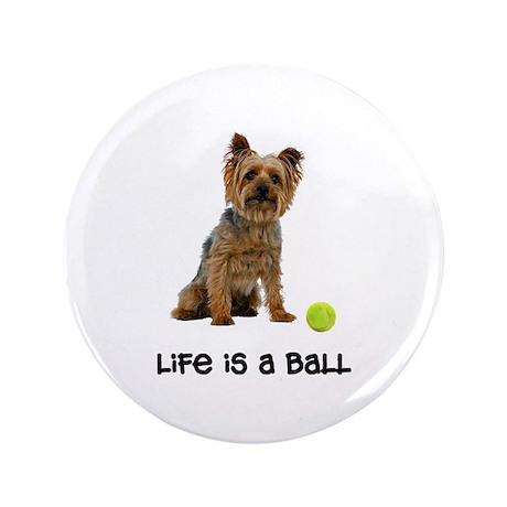 """Silky Terrier Life 3.5"""" Button"""