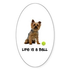 Silky Terrier Life Oval Decal