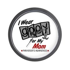 I Wear Grey For My Mom 8 PD Wall Clock