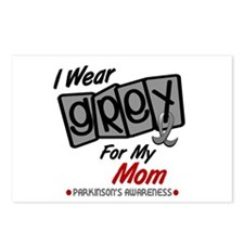 I Wear Grey For My Mom 8 PD Postcards (Package of