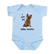 Silky Terrier Love Infant Bodysuit