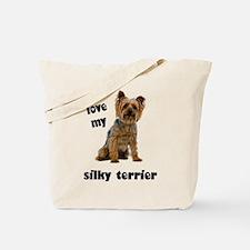 Silky Terrier Love Tote Bag