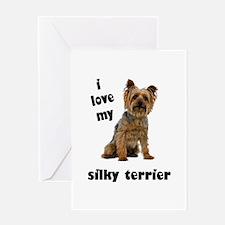Silky Terrier Love Greeting Card