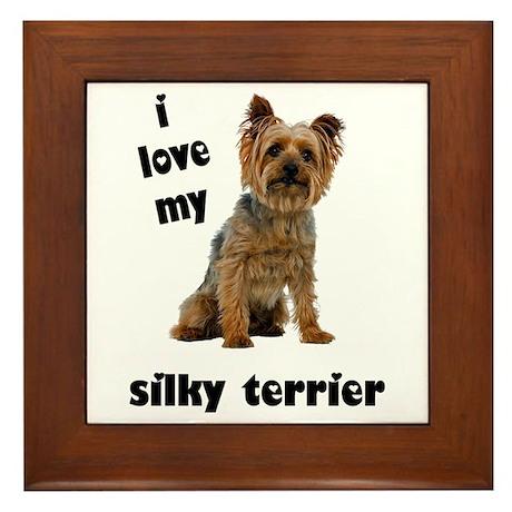 Silky Terrier Love Framed Tile