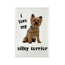 Silky Terrier Love Rectangle Magnet